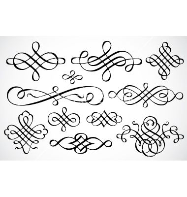 Swirl ornaments vector 93524 - by vectormikes on VectorStock®