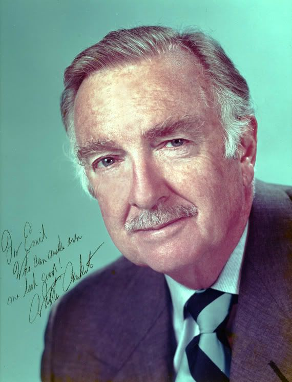 """Walter Cronkite - the face of CBS news 1962-1981. He was known as """"the most trusted man in America""""."""