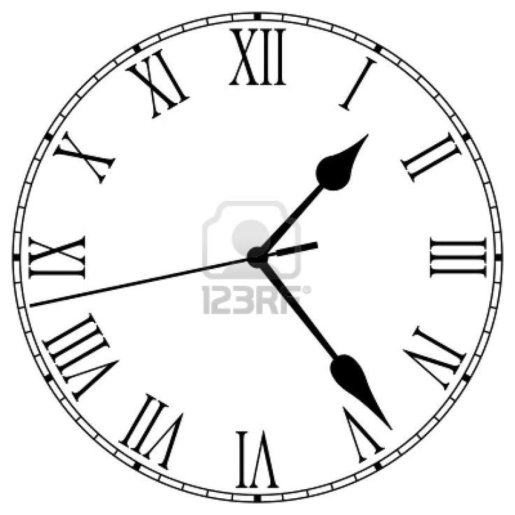 Roman Numeral Clock Template Printable La Historia De