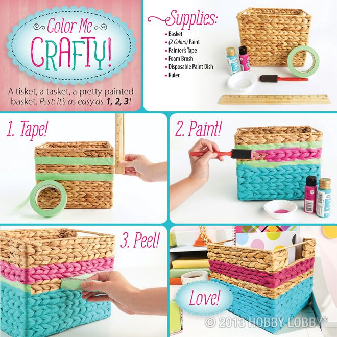 Try your hand at this DIY basket design for a bright burst of color!