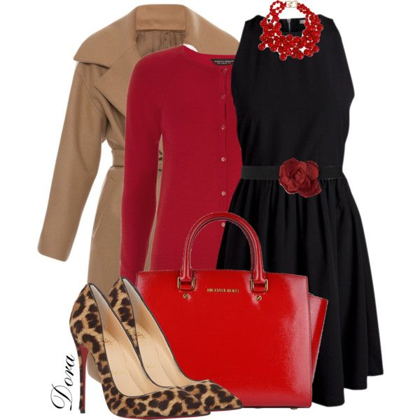 A fashion look from January 2015 featuring black zip dress, long sleeve tops and wool wrap coat. Browse and shop related looks.