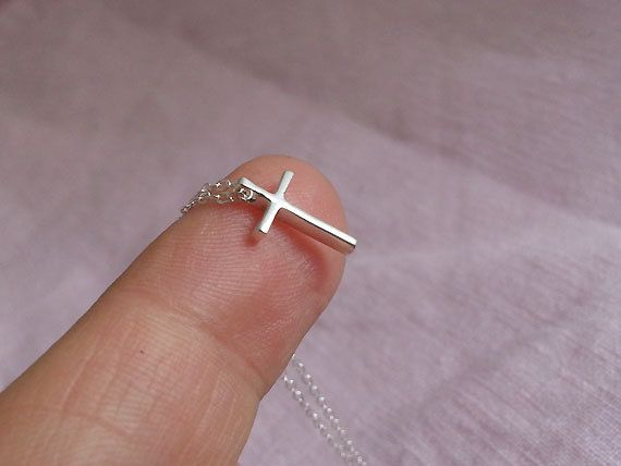 Hey, I found this really awesome Etsy listing at https://www.etsy.com/listing/227906688/cross-necklace-sterling-silver-cross
