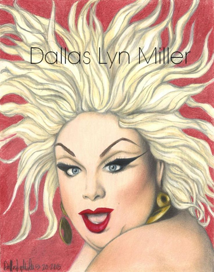 Title: Divine!!!   Harris Glenn Milstead, better known by his stage name Divine (October 19, 1945 – March 7, 1988), was an American actor, singer and drag queen  Artist: Dallas Lyn Miller   Medium: Color Pencil  Size: 9x12 May 20 2015  Facebook: https://www.facebook.com/DallasLynMiller/