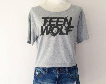 Teen Wolf Logo Series Women Top Wide Crop T-shirt Fashion