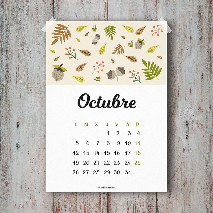 Calendario Octubre 2015 descargable gratis