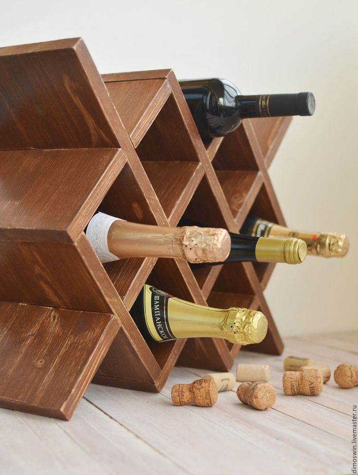 """Купить Полка винная """"Маргарита"""", полка деревянная, шкаф для вина, мини-бар"""