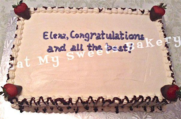Corporate Celebration-Strawberry Shortcake Retirement Cake