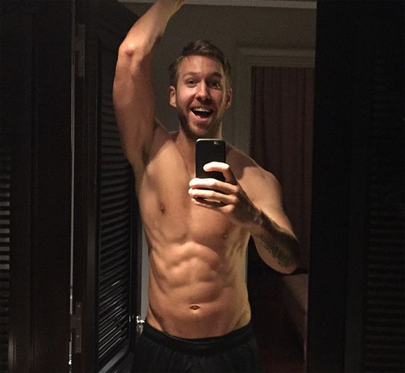 Calvin Harris shirtless sur Instagram   HollywoodPQ.com