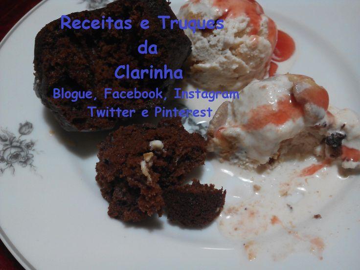 Receitas e Truques da Clarinha: Gelado de ginjinha com Muffins da Casa