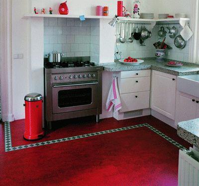 Red Marmoleum Marmoleum Linoleum Kitchen Floors