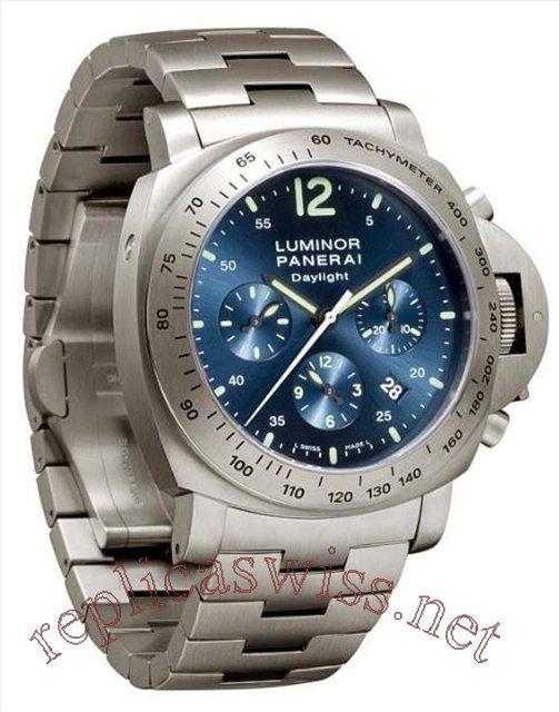 Panerai Luminor Chrono Daylight PAM 00327 Mens Watch Replica Watches