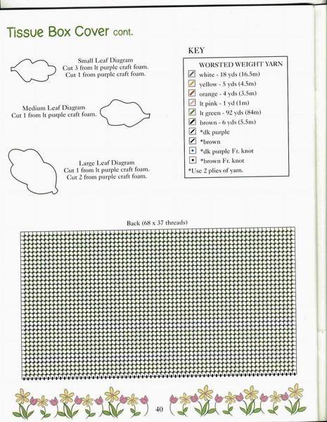 POOH'S PLACE HOME DECOR *PAGE 40* *TIGGER TISSUE BOX COVER 2/3* 42/44