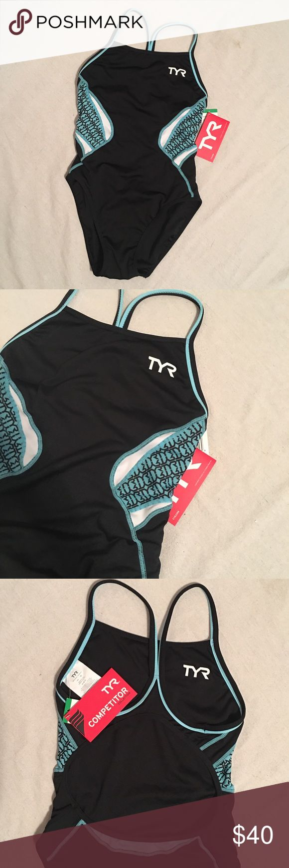 TYR Triathlon Competitor Reversible One Piece NWT TYR Triathlon Competitor Thin Strap Reversible One Piece is engineered to meet the needs of triathlon training and racing. Designed for support, the criss-cross shoulder straps allow for full range of motion and an open back for reduced bulk. Quick drying performance and maximized range of motion. Two suits in one, this suit can be reversed to a solid or multi-color splice for two distinct looks. Feel free to make an offer using the offer…