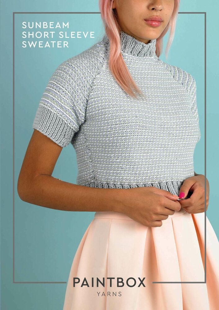 8fbe5e107 Sunbeam Short Sleeve Sweater in Paintbox Yarns Cotton Aran - Downloadable  PDF