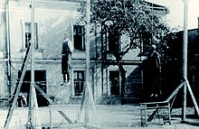 Punishment for aiding the Jews in Poland - Public execution of Michał Kruk and several other people in Przemyśl for helping to save 415 jews