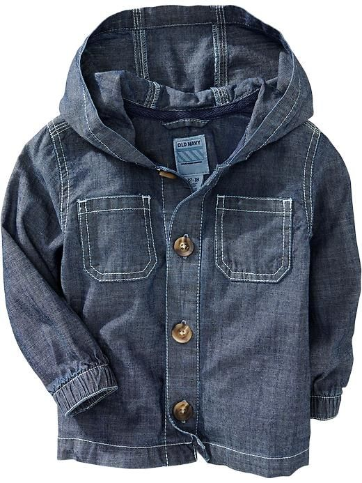 Hooded Chambray Jackets for Baby   Old Navy