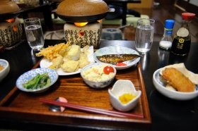 Dinner at Shirakawago-Shimizu in Shirakawa-go, Japan (Courtesy of TD, Madison, USA)