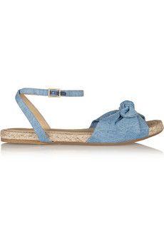 Charlotte Olympia Marina denim sandals  | NET-A-PORTER