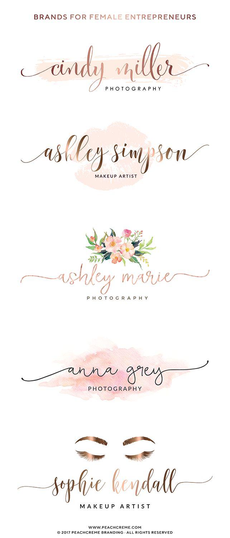 Affordable premade logo designs - feminine branding, premade brand, brand identity, small business, graphic design, logo design, brand package, bakery logos, florist logos, photography logos #photographylogos,