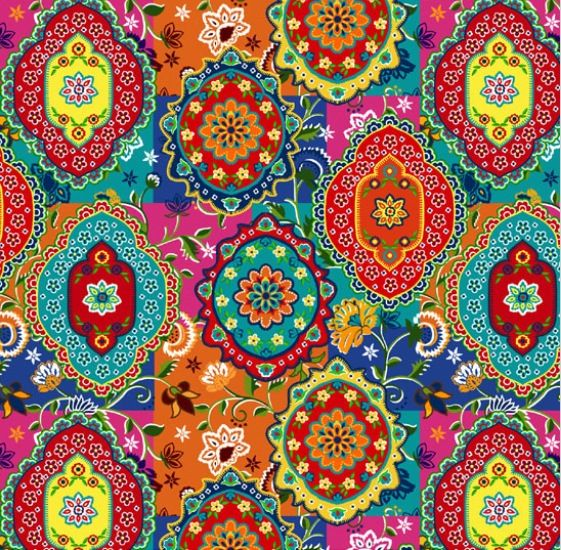 Fantastic Indian fabric and wonderful colours !