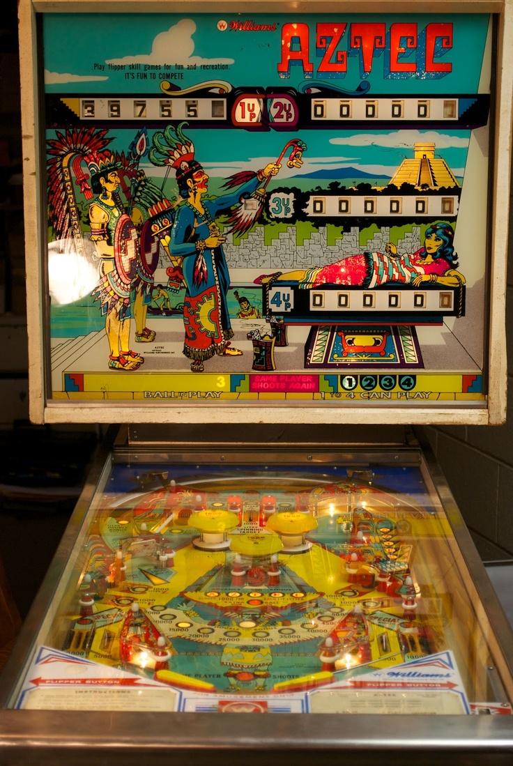 Vintage Arcade Games >> Williams' Aztec Pinball 1976 | The Vintage Arcade | Pinterest | Pinball