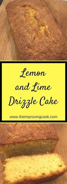 Lemon and Lime Drizzle Cake- moist zesty sponge drizzle with sweet lemon and lime juice.  #lemon #cakerecipe #lime