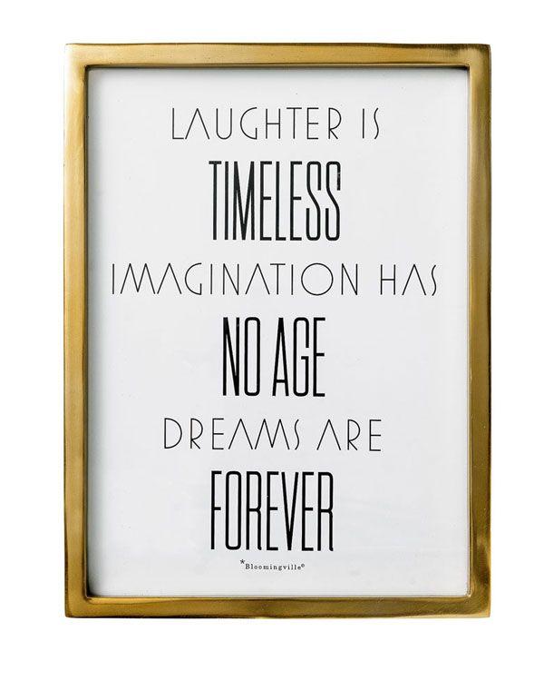 "Bild ""Laughter is..."" von Bloomingville"