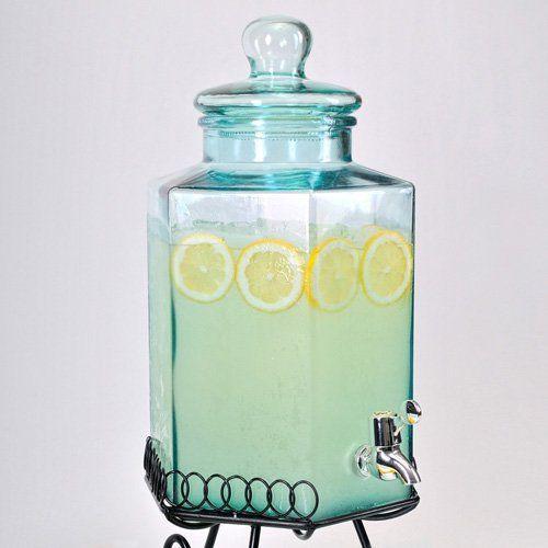 Global Amici-Hexagonal Glass Beverage Dispenser