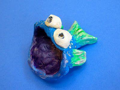 Pinch pot fish kindergarten pinterest mouths big for Clay pot fish