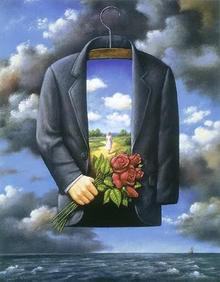 """GRACEFUL DREAM OF POETIC GLORY"" Rafal Olbinski. This is so very beautiful; it reminds me of many things in my own life"
