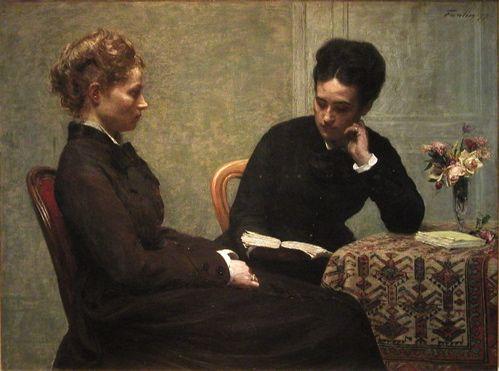 Fantin-Latour  Reading, Henri Fantin-Latour (1877)  ArtExperienceNYC   www.artexperiencenyc.com
