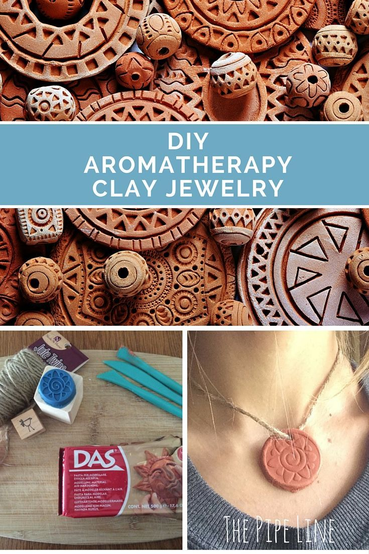 Make your own Aromatherapy jewelry with clay and essential oils!