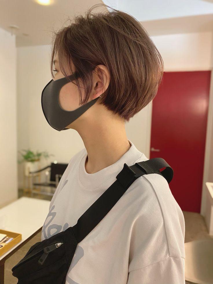 Japanese Short Hair, Korean Short Hair, Short Straight Hair, Girl Short Hair, Short Hair Cuts, Asian Haircut Short, Short Hair Makeup, Androgynous Hair, Hair Color Streaks