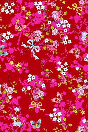 PiP Chinese Rose Rood behang