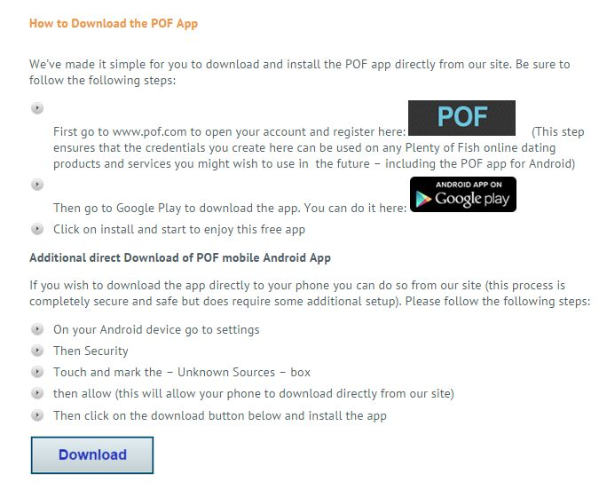 Download pof apk follow | POF Free Dating App APK Download For
