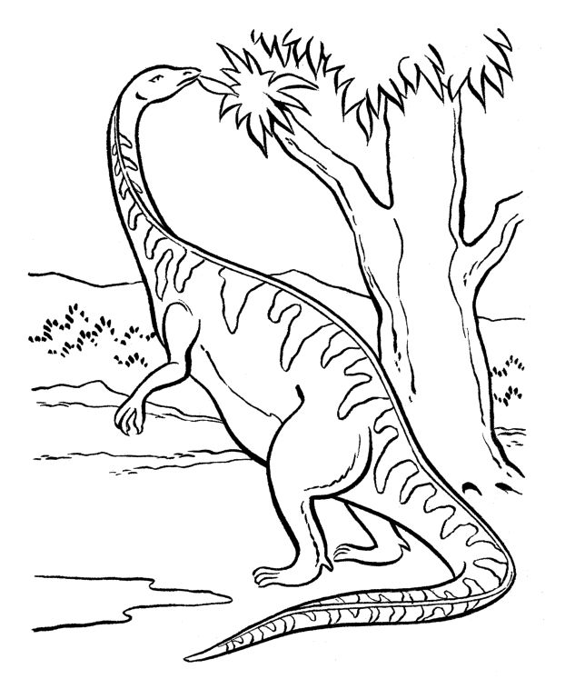 Coloring Dinosaur Plateosaurus Coloring For Kids