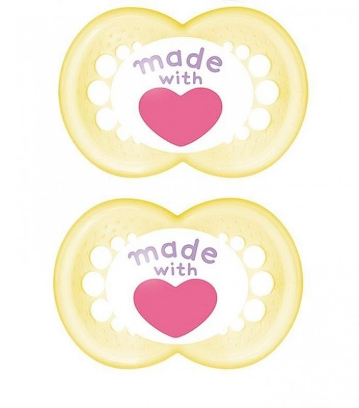 """MAM """"TRENDS"""" 2x Dummy Pacifier Soother"""