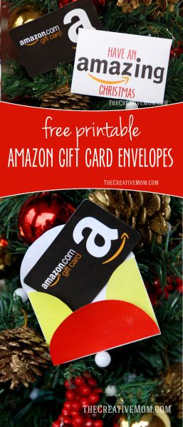 Amazon Gift Card holder (free printable download). Perfect last minute gift idea. There is a Christmas version, a teacher appreciation version, and a regular one too.