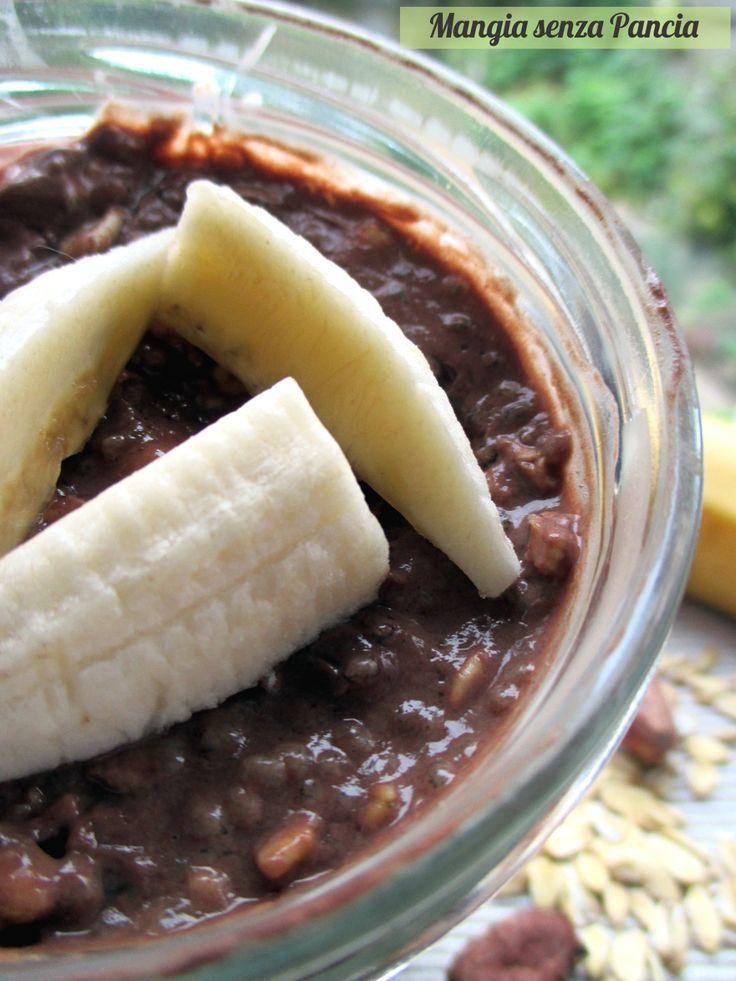 Porridge estivo banana e cacao | Mangia senza Pancia