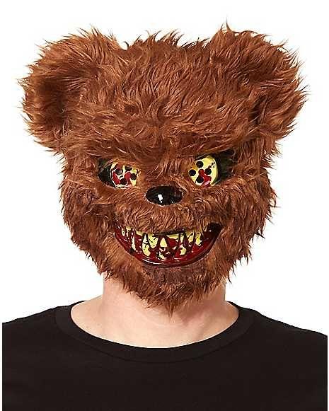 Brown Scary Teddy Bear Mask Spirithalloweencom Raven Halloween
