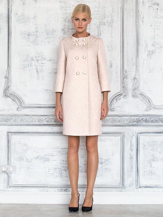Пальто женское цвет молочный, жаккард, артикул 3014710v00003