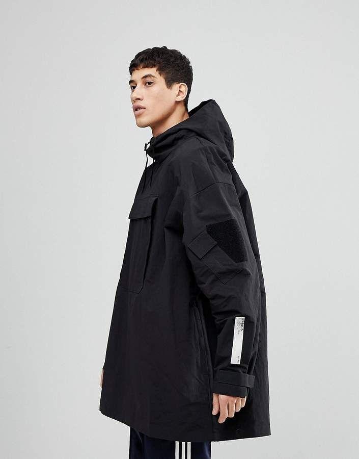adidas Originals NMD Oversized Pullover Jacket In Black