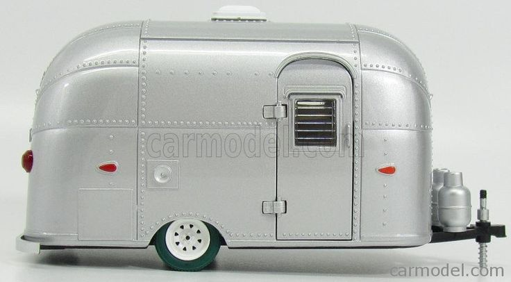 GREENLIGHT 18224 Scale 1/24  TRAILER ROULOTTE CARAVAN AIRSTREAM BAMBI 1960 SILVER