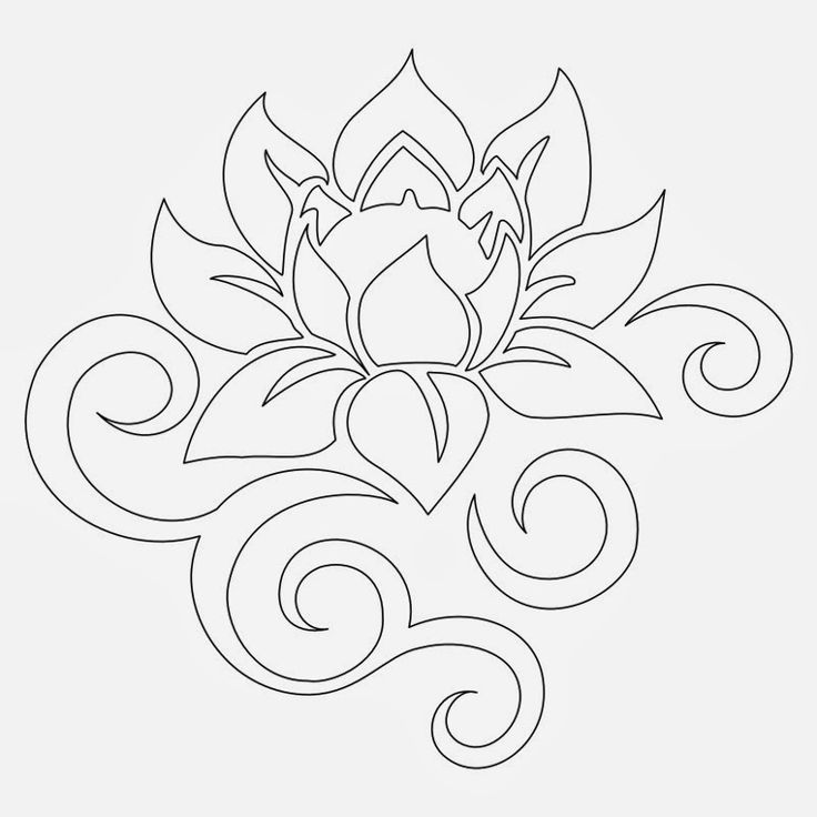 Lotus Flower Bud Tribal