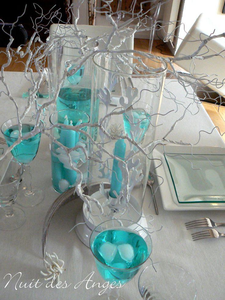 Nuit des anges décoratrice de mariage décoration de table turquoise exotique 007