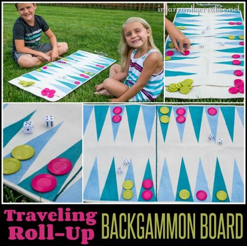 SEWING | How to Make a Roll-Up Traveling Backgammon Game ~ This is perfect for outside play and toting to the beach, camping, etc!