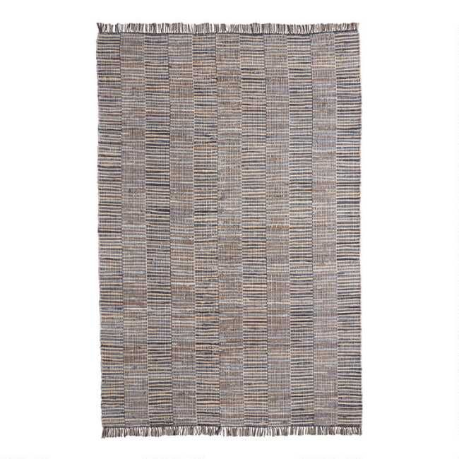 Blue Denim And Jute Woven Fairfax Area Rug With Images Rugs World Market Rug Area Rugs