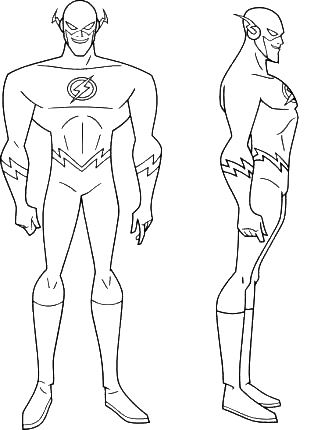 coloring flash a superheroes from comic book picture print this drawing for your kids