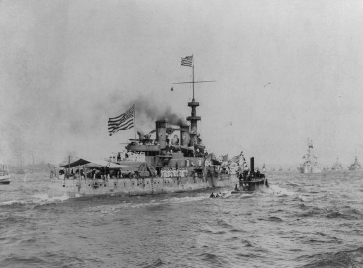 MaritimeQuest - USS Massachusetts (Battleship #2) BB-2 Page 1