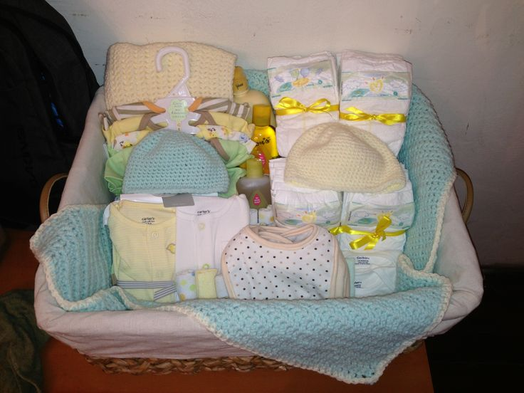 Baby Shower Gift Ideas Unisex : A gender neutral baby gift basket it s perfect for